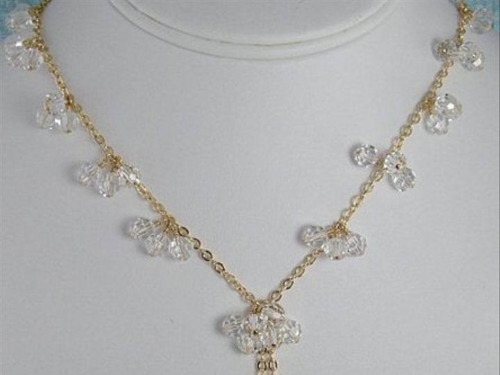 Tmx 1297554671589 Dangleclearnecklacebust Chicago wedding jewelry