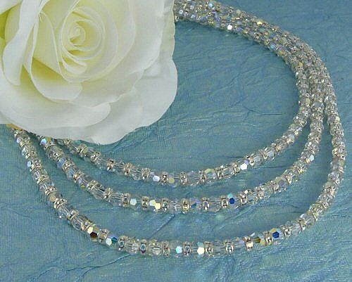 Tmx 1297554841214 Bling3strandnecklace Chicago wedding jewelry