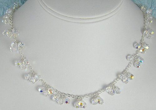 Tmx 1297554896449 Crystalclusternecklacebust Chicago wedding jewelry