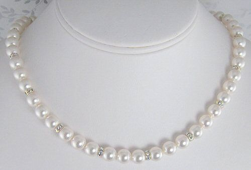Tmx 1297577841402 Pearlandrondellbridalnecklace2 Chicago wedding jewelry