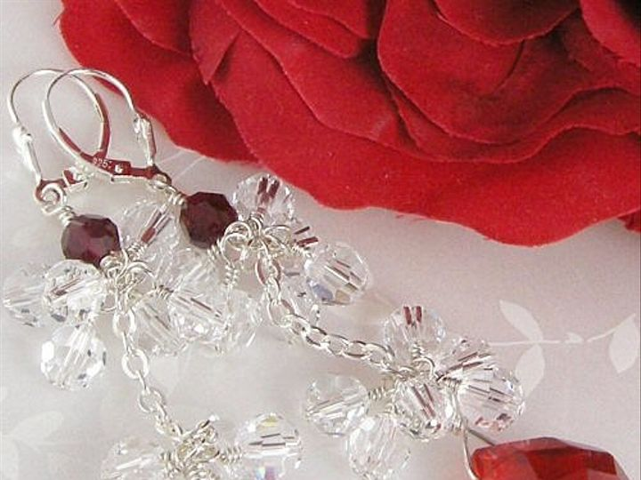 Tmx 1297610431043 Redrubybrioletteandclearcrystalclusterbridalearrings5 Chicago wedding jewelry