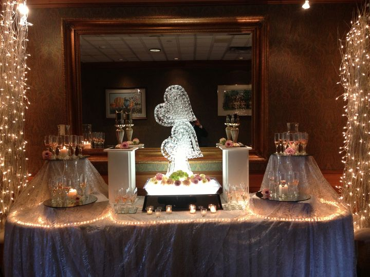 Champagne Display and ice sculpture