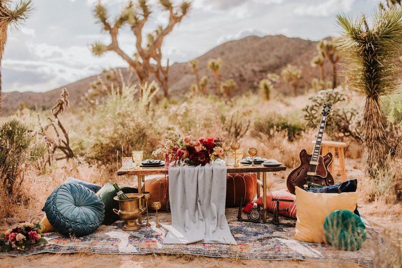 Sweetheart table - Joshua Tre