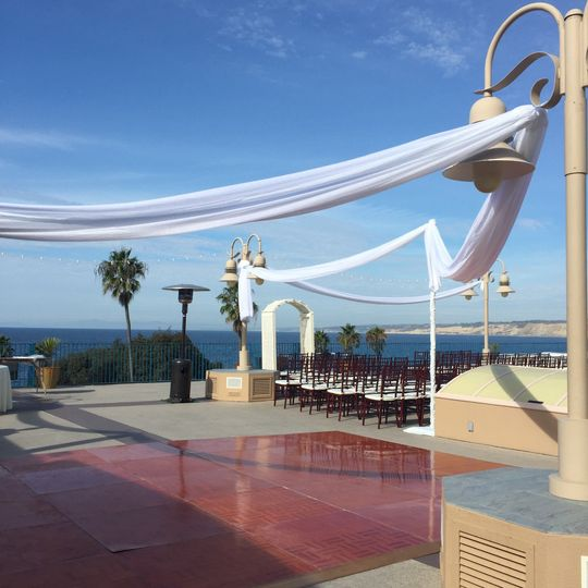Ceremony space with a view
