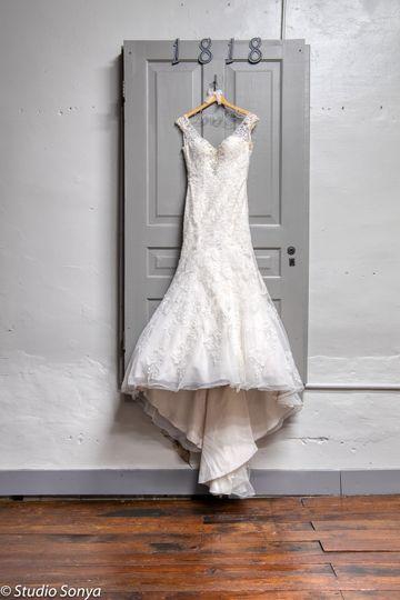 Wedding dress photo location