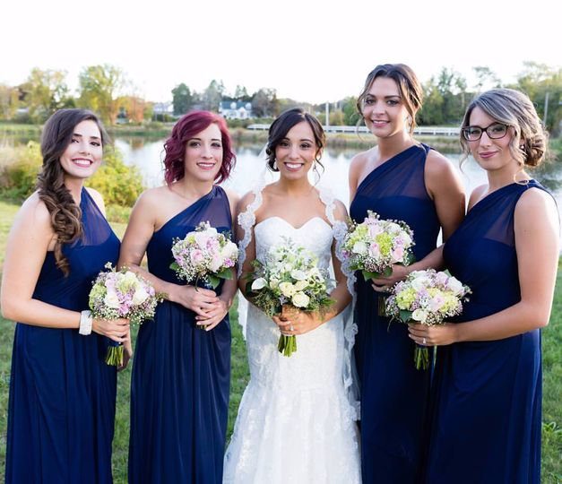 Ashley & her bridal party