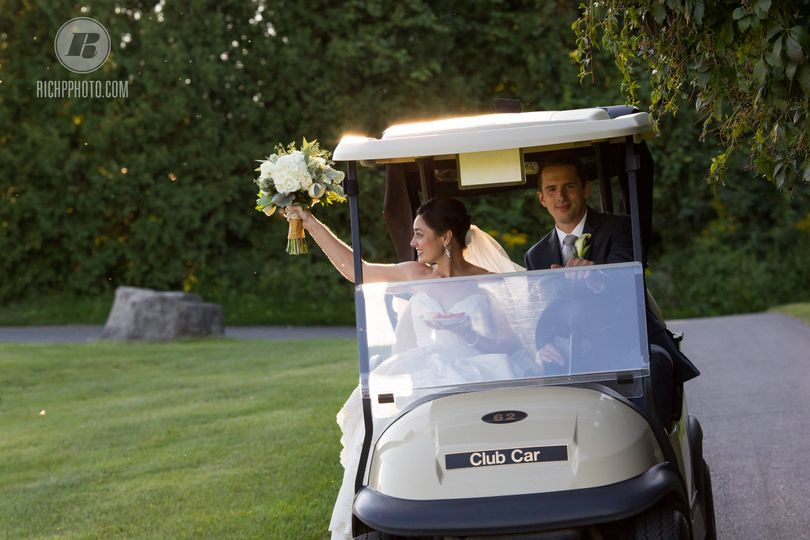 Taking the golf cart around