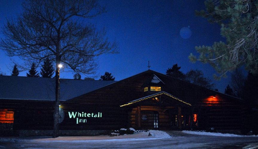 Whitetail Inn at night