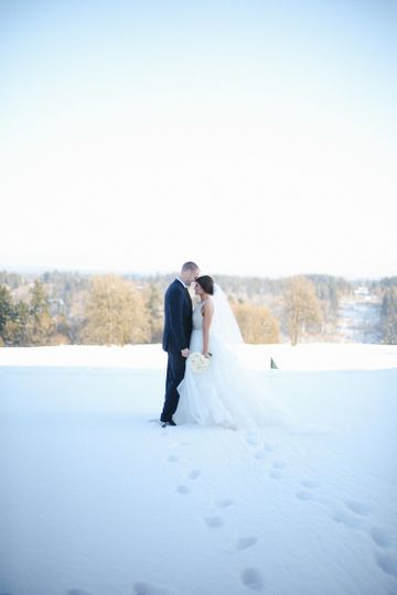 Couple in a winter view