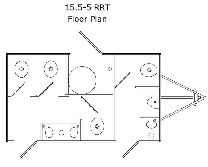 Five-unit floor plan