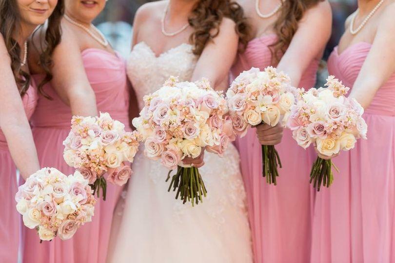 Pink lush roses