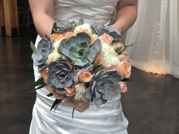 Grey and light orange flowers