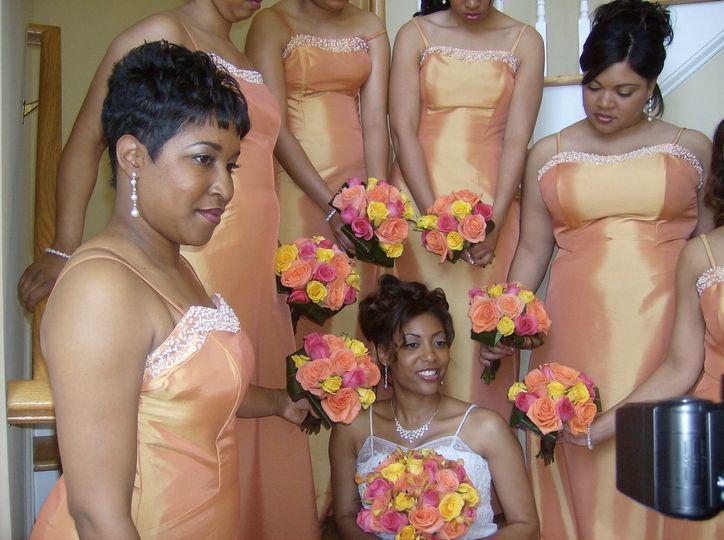 Surrounding the bride