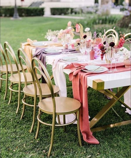 Brass Deco Chairs