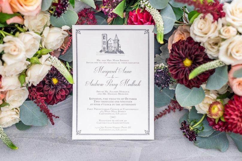 Sophisticated wedding details
