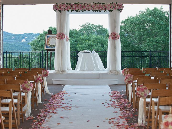 Tmx 1421345154528 Chuppa And Aisle Decorations In All Pink Roses Pasadena, Maryland wedding florist