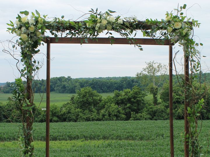 Tmx 1436199594681 Arch All White With Curly Willow And Greenery Pasadena, Maryland wedding florist