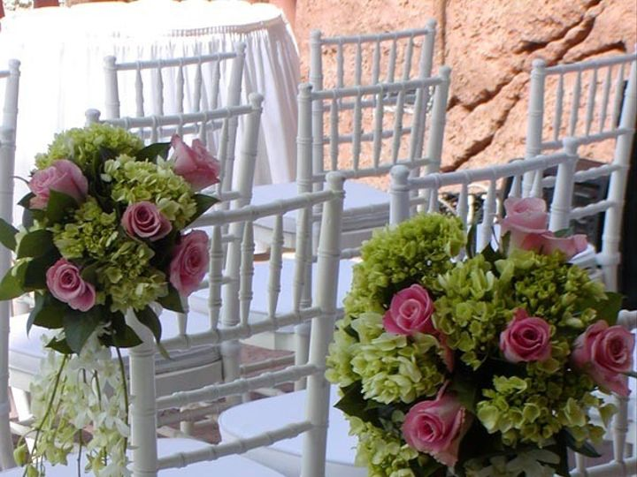 Tmx 1436199897222 Chair Deco With Green Hydrangea And Pink Roses Pasadena, Maryland wedding florist