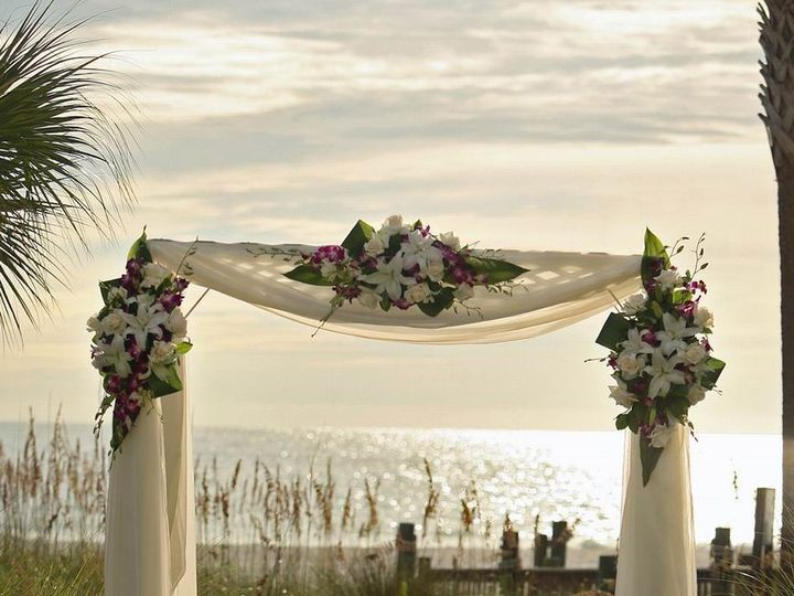 Tmx 1467389731241 Arch With 3 Floral Clusters Pasadena, Maryland wedding florist