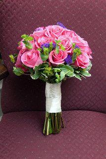 Tmx 1469639343244 Hot Pink Roses Purple Statice Buplureum Pasadena, Maryland wedding florist