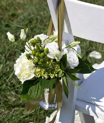 Tmx 1469640531061 Chair Deco White And Green Hydrangea And Lisianthu Pasadena, Maryland wedding florist
