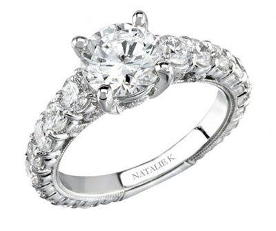 Round Brilliant Diamond Engagement Ring by Natalie K.