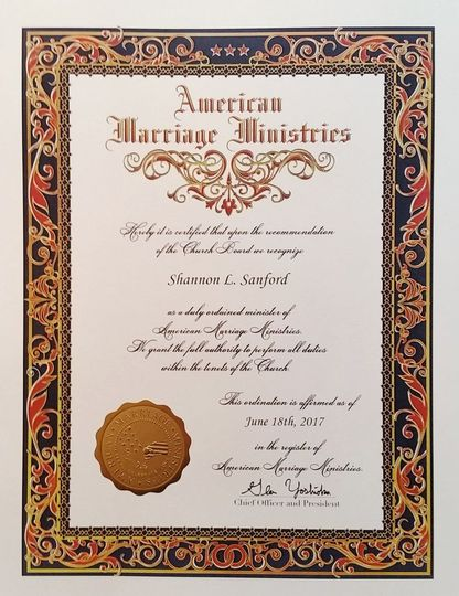 Officiant Certification
