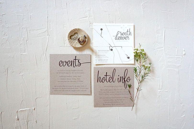 Cohesive Wedding Details Cards