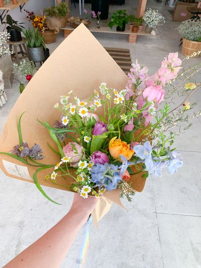 Spring colorful bouquet