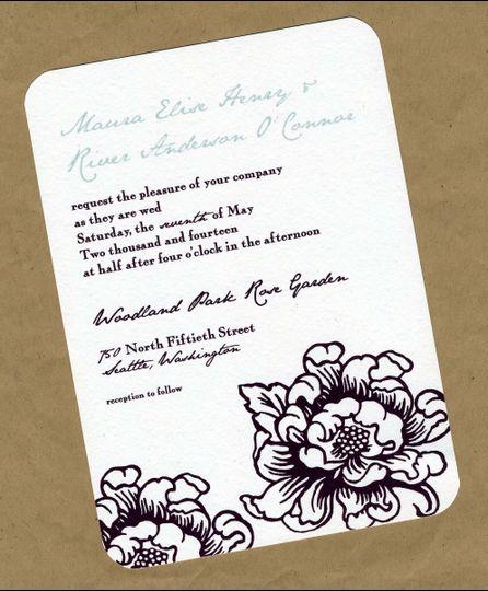 vintage bloom invite