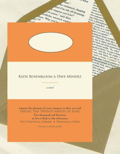 book cover invite set
