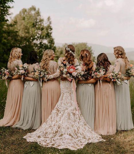 Boho mountain wedding