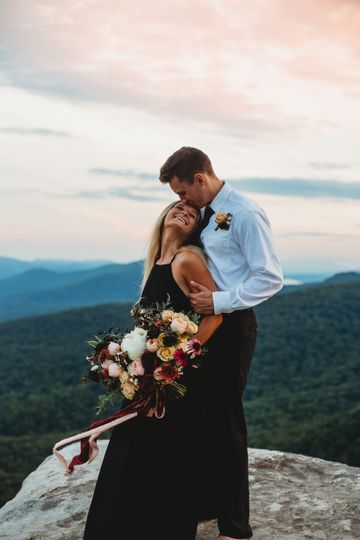 Moody mountain elopement