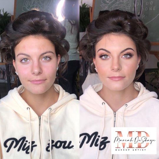 Striking eye makeup