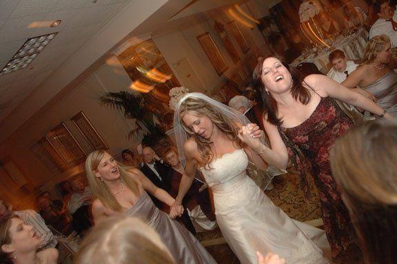 The bride dancing the night away.