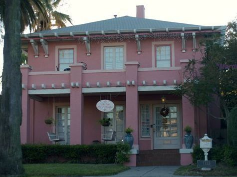 The front of The Villa Bed & Breakfast in Galveston Texas