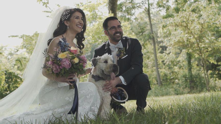 With their best friend, Rivion Weddings