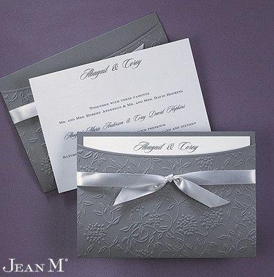 Grey invitation