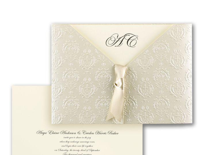 Tmx 1471480233272 Baroque Detail Philadelphia, Pennsylvania wedding invitation
