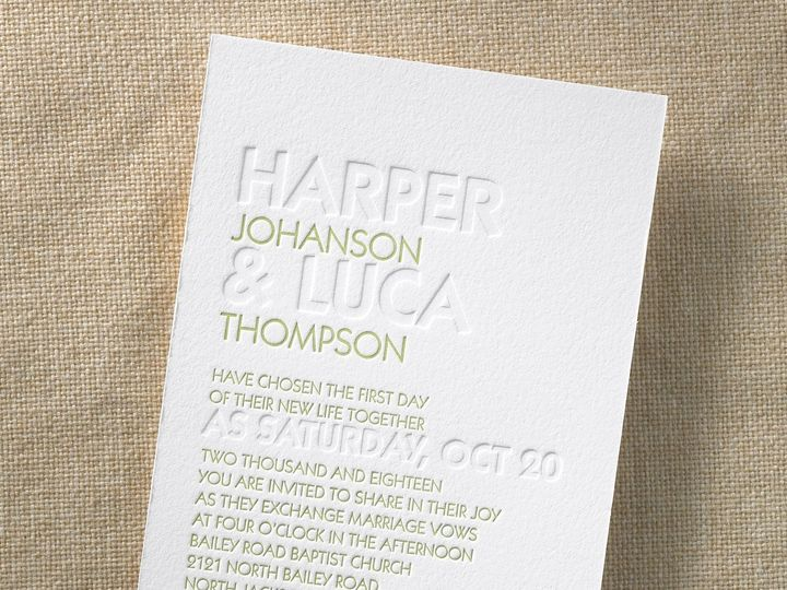 Tmx 1471480275824 Brilliant Day Letterpress Philadelphia, Pennsylvania wedding invitation