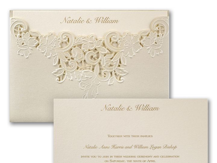 Tmx 1471480301636 Edged In Elegance Philadelphia, Pennsylvania wedding invitation