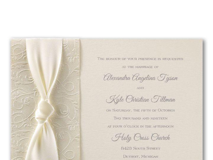 Tmx 1471480312061 Filigree And Satin Philadelphia, Pennsylvania wedding invitation