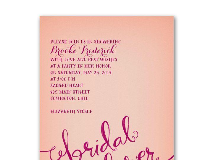Tmx 1471480338189 Swirly Words Bridal Shower Philadelphia, Pennsylvania wedding invitation