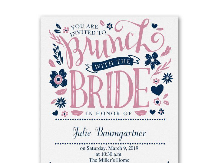 Tmx 1471480360678 Lets Do Brunch Bridal Shower Philadelphia, Pennsylvania wedding invitation
