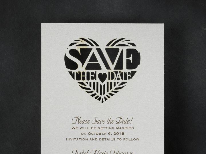 Tmx 1471480503635 Paper Pattern Save The Date Philadelphia, Pennsylvania wedding invitation