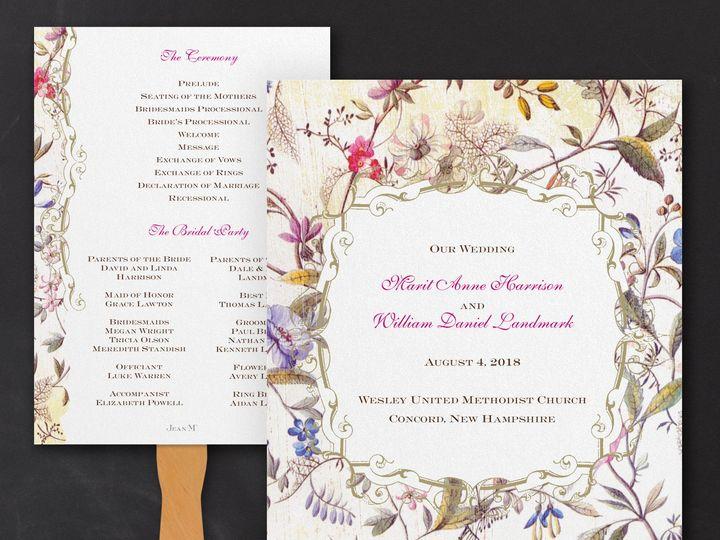 Tmx 1471480532958 Florentine Tapestry Program Fan Philadelphia, Pennsylvania wedding invitation