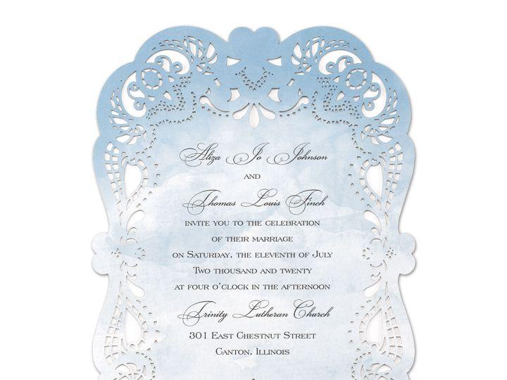 Tmx 1526344970 04146e98f4a7bc01 1526344968 93e9d8b10c9f615c 1526344961928 2 Watercolor Lace Philadelphia, Pennsylvania wedding invitation