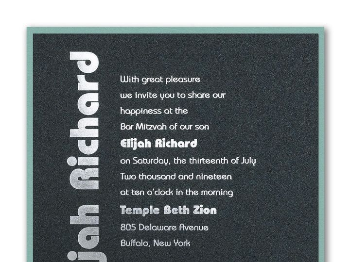 Tmx 1526344971 511d0c8a75eb7f2d 1526344969 F1854c42f8262d8a 1526344961944 7 Courage Bar Mitzva Philadelphia, Pennsylvania wedding invitation