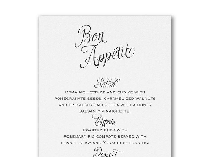 Tmx 1527350296 8c3101722797c4d0 1527350295 047f48abc0656047 1527350295271 5 Bon Appetite Menu  Philadelphia, Pennsylvania wedding invitation