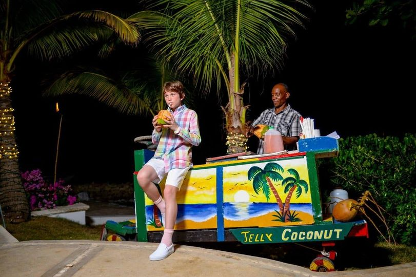 Colorful coconut cart